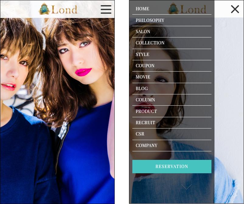 『美容室・美容院』【Lond(ロンド)】スマホトップページ