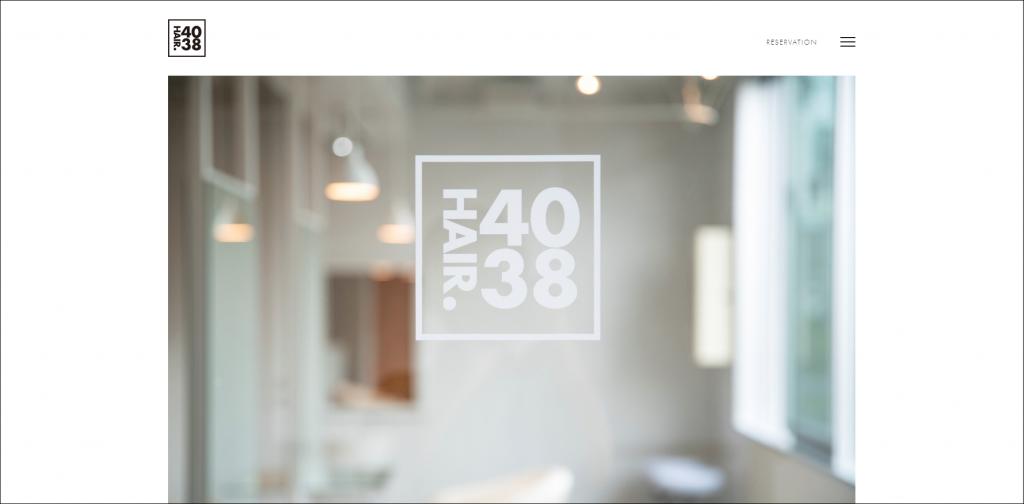 ホームページ制作実績『美容室』【HAIR.4038(ヘアーヨンゼロサンハチ)】様