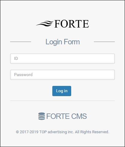 ホームページ制作実績『美容室』【FORTE(フォルテ)】様 管理画面ログイン